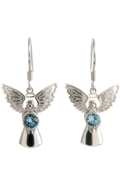 Guardian Angel Earrings Aquamarine