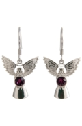Guardian Angel Earrings Amethyst
