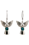 Guardian Angel Earrings Blue Zircon