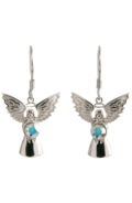 Guardian Angel Earrings Crystal
