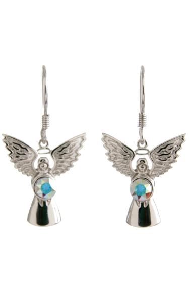 Guardian Angel Earrings Crystal