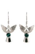 Guardian Angel Earrings Emerald