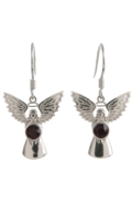 Guardian Angel Earrings Garnet