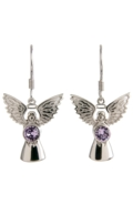Guardian Angel Earrings Light Amethyst
