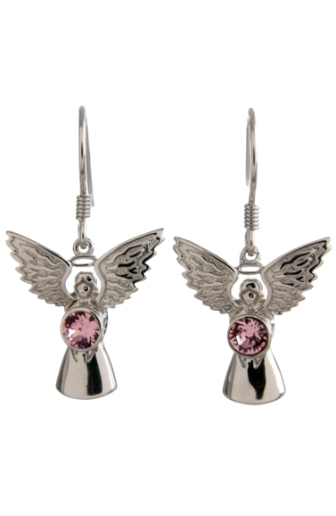 Guardian Angel Earrings Rose