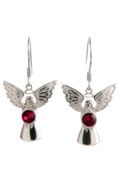 Guardian Angel Earrings Ruby