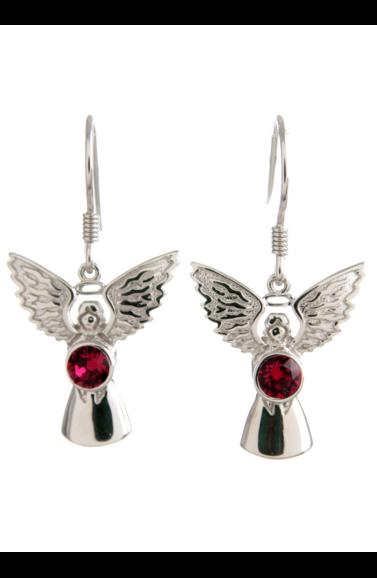 Guardian Angel Earrings Ruby