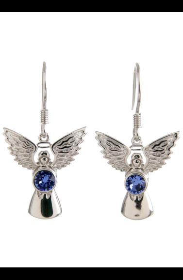 Guardian Angel Earrings Sapphire