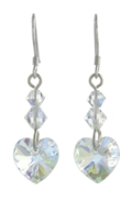 Birthstone Heart Earrings April