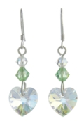 Birthstone Heart Earrings August