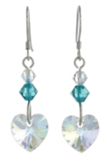Birthstone Heart Earrings December