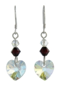 Birthstone Heart Earrings January