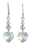 Birthstone Heart Earrings June