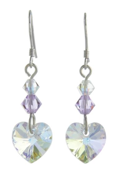 Birthstone Heart Earrings June