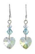 Birthstone Heart Earrings March