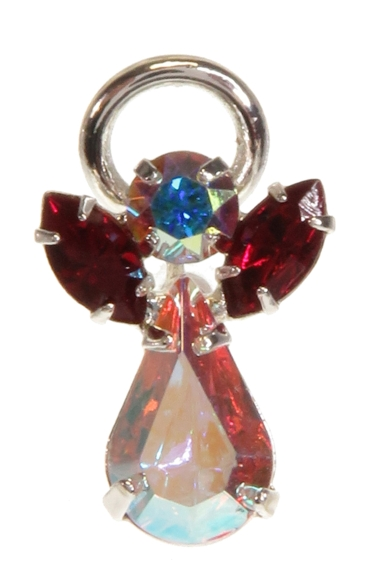 Guardian Angel Pin Garnet