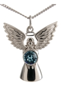 Guardian Angel Necklace Aquamarine