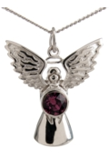 Guardian Angel Necklace Amethyst