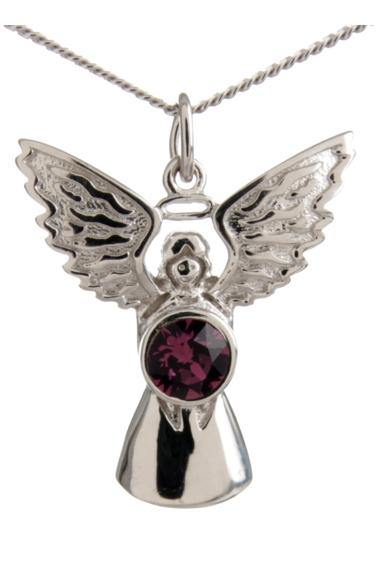 Guardian Angel Necklace Amethyst
