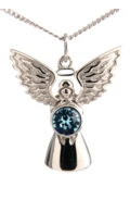 Guardian Angel Necklace Blue Zircon