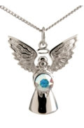 Guardian Angel Necklace Crystal