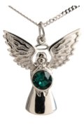 Guardian Angel Necklace Emerald