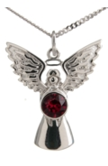 Guardian Angel Necklace Garnet