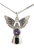 Guardian Angel Necklace Light Amethyst
