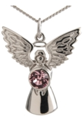 Guardian Angel Necklace Rose