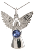 Guardian Angel Necklace Sapphire