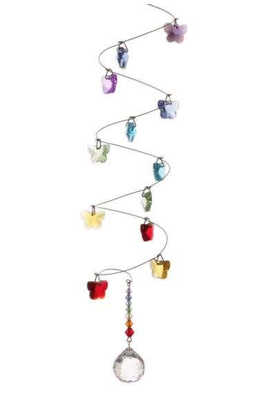 Rainbow Spiral Mobile Long 20mm Ball - Butterfly