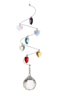 Rainbow Spiral Mobile Short 30mm Ball - Hearts