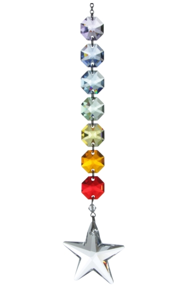 Crystal Radiance - Rainbow 40mm Star