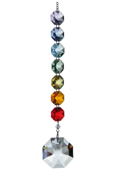 Crystal Radiance - Rainbow 30mm Octagon