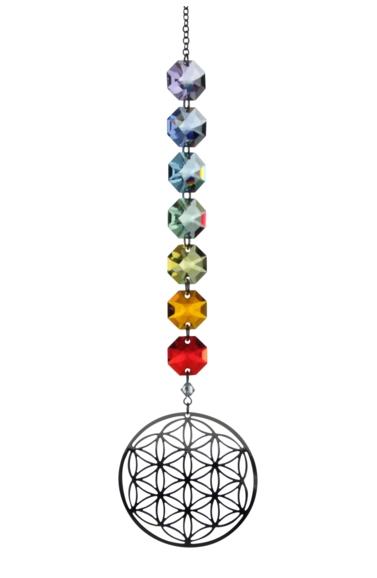 Crystal Radiance - Rainbow Flower of Life