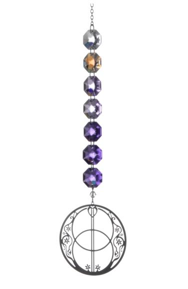 Crystal Radiance - Purple Vesica Pisces