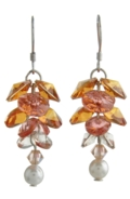 Long Flower Earrings Dahlia