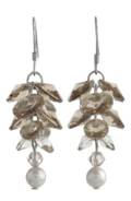 Long Flower Earrings Golden Rose