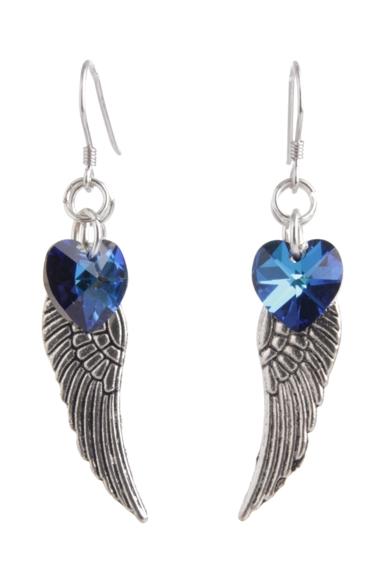 Angel Wing Earrings Bermuda Blue