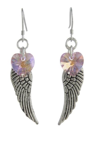Angel Wing Earrings Light Rose