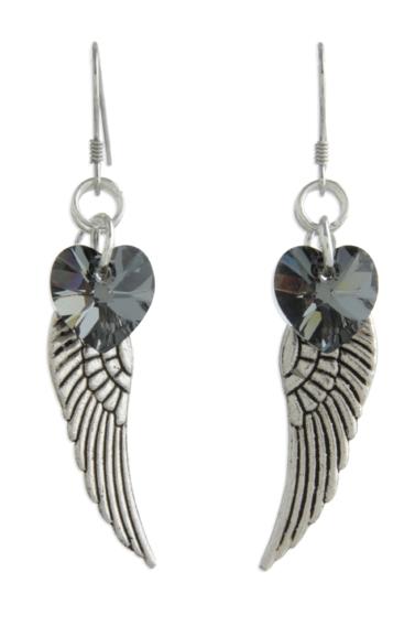 Angel Wing Earrings Silvernight