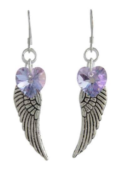 Angel Wing Earrings Violet