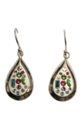 Sterling Silver Almond Earrings - Confetti