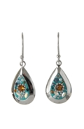 Sterling Silver Almond Earrings - Daisy