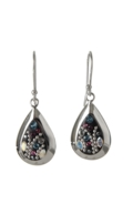 Sterling Silver Almond Earrings - Midnight