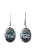 Sterling Silver Oval Earrings - Blueshade