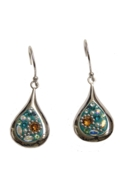 Sterling Silver Raindrop Earrings - Daisy
