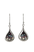 Sterling Silver Raindrop Earrings - Midnight