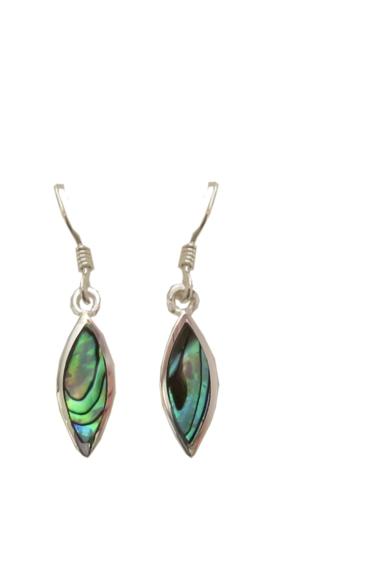 Paua Shell Earrings - Small Drop