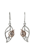 Sterling Silver Earrings - Ladybird on Leaf